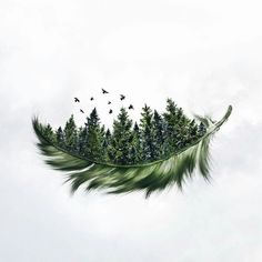 Specializing in surrealism photography, self-taught Photoshop expert Luisa Azevedo creates composite photos straight out of a dream. 1 Tattoo, Tattoo Drawings, Body Art Tattoos, Art Drawings, Tattoo Quotes, Pine Tree Tattoo, Tattoo Bird, Couple Drawings, Cover Up Tattoos