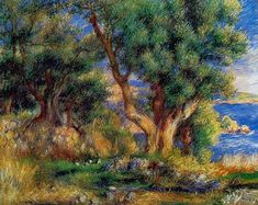 Landscape on the Coast, near Menton | Renoir | Painting Reproduction 1818 at TOPofART.com