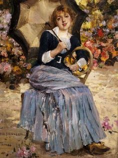 Jeanne Samary (Girl with a Parasol), Jules Bastien-Lepage, 1879