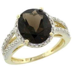 14K White GOld Diamond Color Gemstone Rings - Smoky Topaz Rings Wholesale - Afford Price: Contact Us @ (213) 689-1488