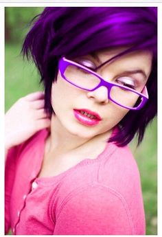 Love purple hair. I'm doing this on the last day of school!