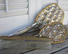 Vintage Gemlite Dresser Vanity Set Mirror Comb by VintagebyKanina, $85.00