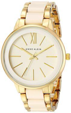 Amazon.com: Anne Klein Women's AK/1412IVGB Gold-Tone and Ivory Resin Bracelet Watch: Anne Klein: Watches