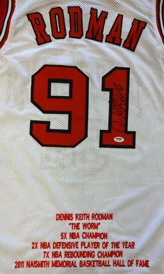 f5ac8619d Chicago Bulls Dennis Rodman Autographed White Jersey PSA DNA