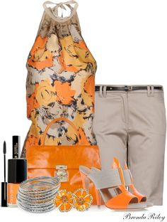 """""""Floral Halter"""" by brendariley-1 ❤ liked on Polyvore"""
