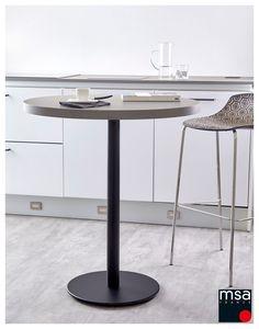 Pied central en acier pour plateau en bois rond. En option, il est possible d'utiliser une platine (réf. D66V) pour un plateau en verre. Poids maxi du plateau : 20 kg Black Queen, Black Noir, Black Edition, Furniture, Home Decor, Round Tray, Glass Tray, Table Legs, Turntable