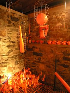 Utility of Obsession: All Things Orange - Installation by BOX 1035 (Alysse Stepanian and Philip Mantione) || #orange #art