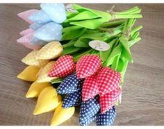 """""""Tulipany, tulipan, bawełniane, bukiet -- 4.90 zł/sztuka"""""""