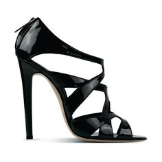 HighHeelsCult: GIANVITO ROSSIPatent Black Sandal