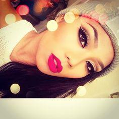 #ShareIG ✨Shady lady X stupid love lipstick by @meltcosmetics ❤️ // lashes Gisele and Naomi by @lashesbylena ❤️✨ // @official_twointheshirt beanie #duh