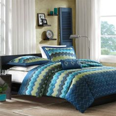 Juno Comforter Set Color: Blue, Size: Full / Queen by Mi-Zone. $59.99. MZ10-055 Color: Blue, Size: Full / Queen Features: -Material: Polyester microfiber.-Fill: Poly.-85GSM.-Decorative pillow with an embroidered diamond pattern.-Can fit twin and twin extra long mattress.-Soft to the touch.-Machine washable for easy care. Includes: -Twin / Twin Extra Long size includes comforter, sham and decorative pillow.-Full / Queen size includes comforter, 2 shams and decorati...