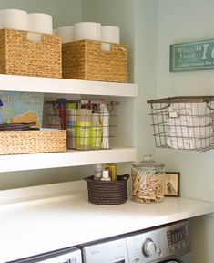 Quick and easy wall shelves