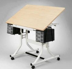 Alvin CraftMaster Drafting-Drawing Table - Adjustable height and angle make the Alvin CraftMaster Hobby Rolling Drafting Table Station a great set for your home or office. Drafting Drawing, Drafting Desk, Adjustable Height Table, Best Desk, Attic Rooms, Lost Art, Drawing Board, Home Office Desks, Diy And Crafts