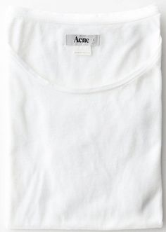 acne, white pure t.shirt