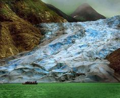 Posted by I Can't Believe It  The Sawyer Glacier in Alaska where the glacier meets the ocean