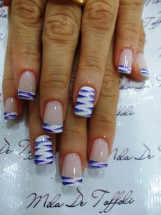 Nail Art that reminds me of Water/Native American Design   One Accent Nail   Once Accent Nail