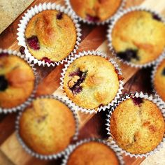 Almond Flour Berry Muffins {Gluten Free} Try with Cranberries and maybe chopped walnuts or pecans?
