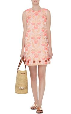 Floral Jacquard Sleeveless Dress by CLOVER CANYON Now Available on Moda Operandi