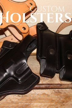 Classic style shoulder holster made by Horizon Country Leather