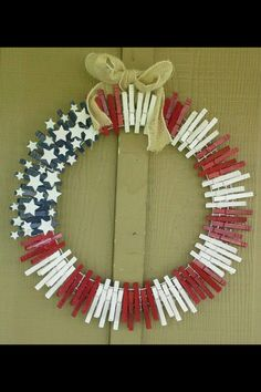 Fourth of July Wreath (but you could also personalize colors/theme for other holidays!)