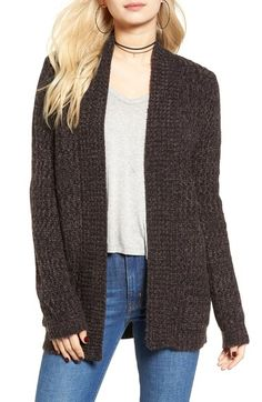 Cotton Emporium Marled Knit Open Cardigan available at #Nordstrom
