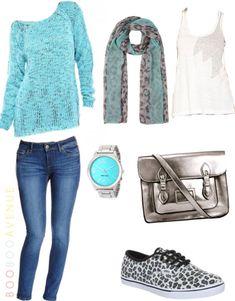 Teal Top And Jeans