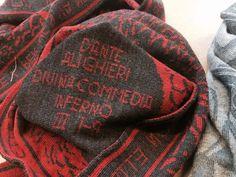 INFERNO III 1-9 #inferno PURGATORIO XI #purgatorio 94-102 PARADISO XXV 1-9 #paradiso #italianivolanti #dantealighieri #squadratlantica #sciarpe #scarf #sciarpauomo #accessorionline #madeinitaly #italianstyle #woolscarves