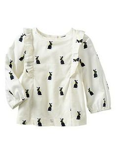 Bunny ruffle top