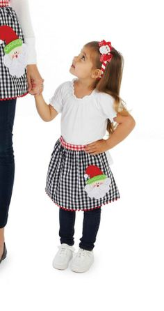 Mommy's little helper might need this apron for making Christmas cookies