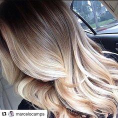 #Repost @marcelocamps with @repostapp ・・・ Muito amor por esse hair. Ideal pra quem gosta de manter seu fundo natural íntegro e comprimento, pontas super iluminados. Tons de bege e dourado ✨