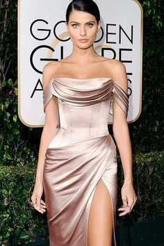 Isabeli Fontana exudes glamour at the annual Golden Globes wearing Ralph & Russo Satin Dresses, Elegant Dresses, Strapless Dress Formal, Beautiful Dresses, Nice Dresses, Bridesmaid Dresses, Prom Dresses, Formal Dresses, Wedding Dresses