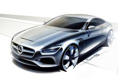 S-class Coupe concept by Mercedes-Benz // The new S-class Coupe concept, presented at the 2013 Frankfurt Motor Show, by Mercedes-Benz. The new S-class comes with a far more aggressive appearance than car it will succeed, the CL-class. // www.lookslikegooddesign.com/s-class-by-mercedes/