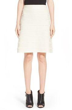 BURBERRY Fringed A-Line Silk Skirt. #burberry #cloth #