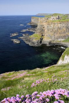 ✮ Dunluce Castle - Northern Ireland  I love all the green would love to go to Ireland one day.