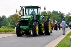 Tractor procession through cemetery. #CelebrationOfLife #funeral #cemetery