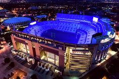 LSU lighted Tiger Stadium in blue to honor law enforcement in the wake of the killing of two Baton Rouge police officers and one East Baton Rouge Sheriff's deupyt.