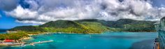 Dramatic clouds roll over the island of Labadee.