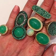 Green with envy!Ray Griffiths #jewelry #jewelrydesigner #diamond #emerald #ring #ringporn #gems #gem #gemstone #instagood #instalike #instamood #instagram #huntingtonvillage #glamour #glam #glamorous #finejewelry #statementjewelry #fashion #fashionista #fashionable #love #green #gold #bling #jewellery @raygriffithsfinejewelry Emerald Jewelry, Gold Jewelry, Jewelry Rings, Jewelery, Jewelry Accessories, Fine Jewelry, Jewelry Design, Family Jewels, Emerald Diamond