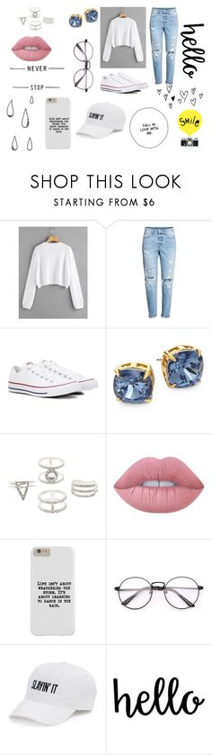 """Unstoppable"" by rahi445 ❤ liked on Polyvore featuring Converse, Tory Burch, Charlotte Russe, Lime Crime, SO and Old Navy"