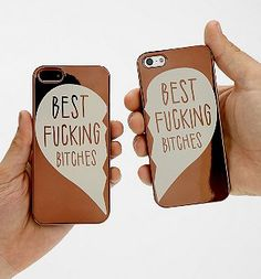 Gifts for Your BFF: Best F*cking B*tches iPhone 5 / 5S Cases (set of 2) @ Urban Outfitters