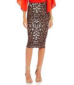 Gianni Bini Bethany Leopard-Print Ponte Pencil Skirt    (41.40)