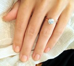 rose gold wedding rings - love   Sweet. Simple. Love. AND IT WON'T GET STUCK IN MY HAIR! This might just be my favorite.