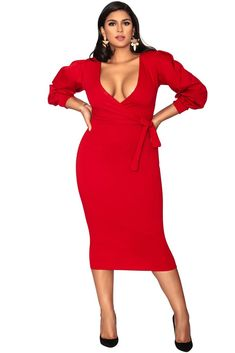 b789c9d0dd9 15 Fly Plus Size Red Dress Options for Valentine s Day
