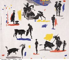 Pablo Picasso, 'Toros y Toreros' fabric for Bloomcraft, 1963