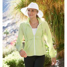 Women's Ultra Athlete Full Zip Shirt - Solumbra: All Day 100+ SPF Sun Protective Clothing -  Style# 14400