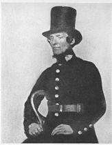 A Peeler of the Metropolitan Police Service in the 1850s. (UK)