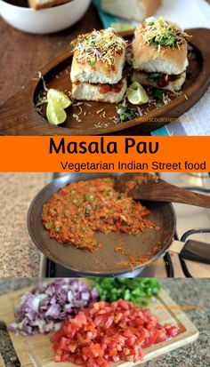 Masala Pav - famous street food of mumbai.You can find indian food vegetarian and more on our website.Masala Pav - famous street food of mumbai. Mumbai Street Food, Best Street Food, Indian Street Food, Healthy Recipes, Indian Food Recipes, Cooking Recipes, Snack Recipes, Vegetarian Breakfast Recipes Indian, Vegetarian Recipes Of India