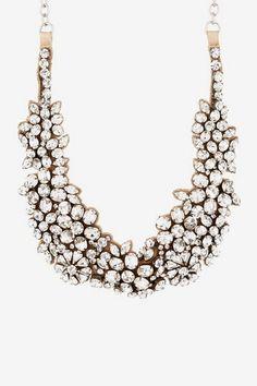 Valentino Flower Bib Necklace