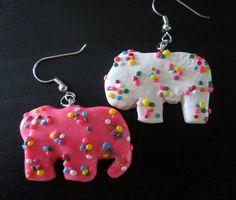 Animal Cookie Earrings. $7.00, via Etsy.