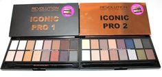 Consigli di Makeup: Review & Swatches Icon Pro 1 e 2 Palette - Make Revolution